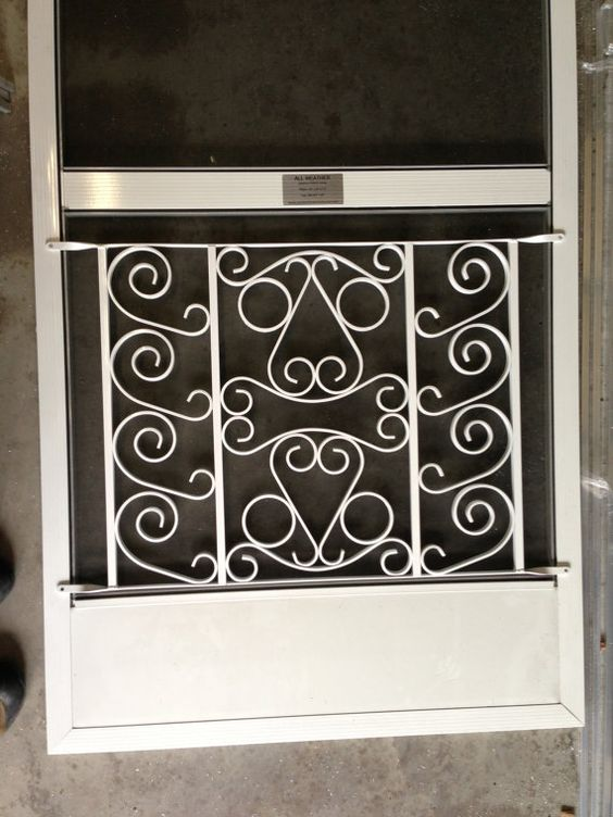 Screen Door Grille Decorative Protective Powder Coated