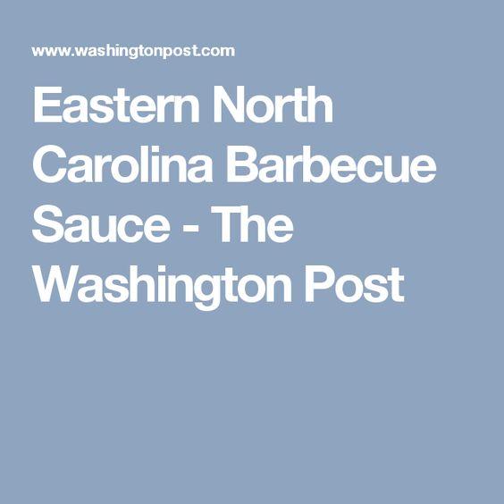 Eastern North Carolina Barbecue Sauce - The Washington Post