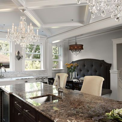 Traditional Home White Dining Table Design Ideas, Pictures, Remodel, and Decor - page 63