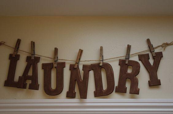 Laundry room sign I made