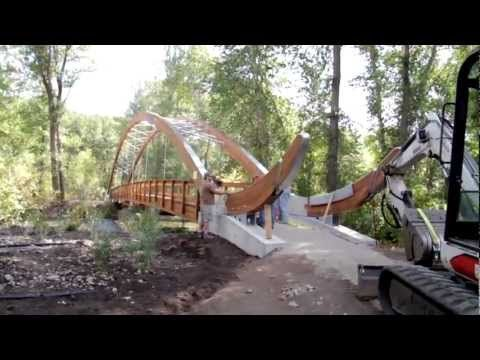 Construction of the Bow Bridge of the Big Wood River - YouTube