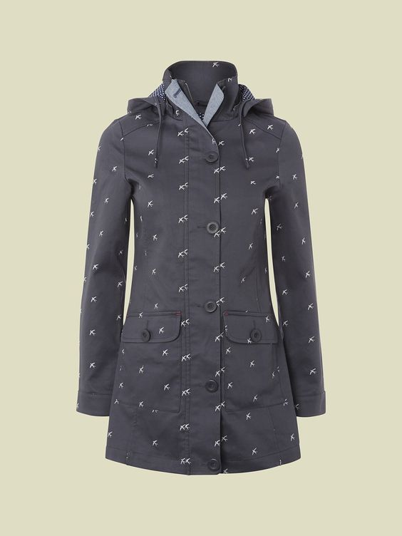 CANAL EMBROIDERED MAC | coats & jackets | White Stuff
