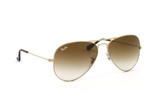 Ray Ban Aviator Sonnenbrille Sunglasses Gelb Braun Rb3025 001 51 58mm Rahmen Gelb Bugel Gelb Apparel