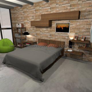 della camera da letto in stile metropolitano  Camera urban chic ...