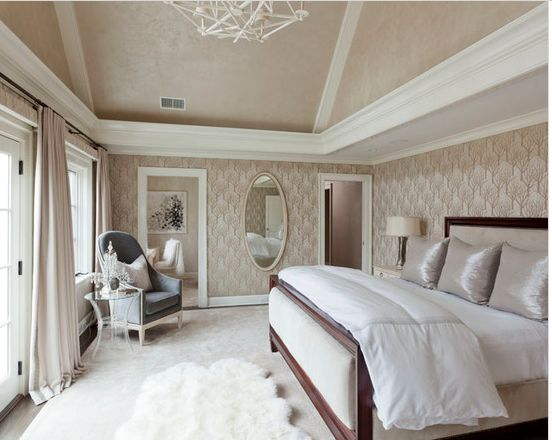 Example of tray ceiling in bedroom with vaulted ceiling yes or no on tray details Master bedroom with sloped ceiling