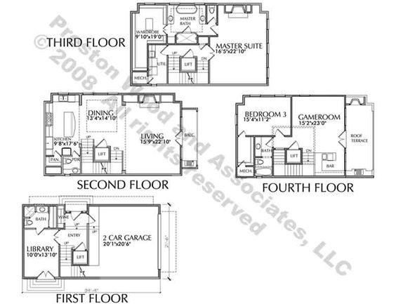 Luxury brownstone floor plans luxury townhouse floor for Brownstone plans