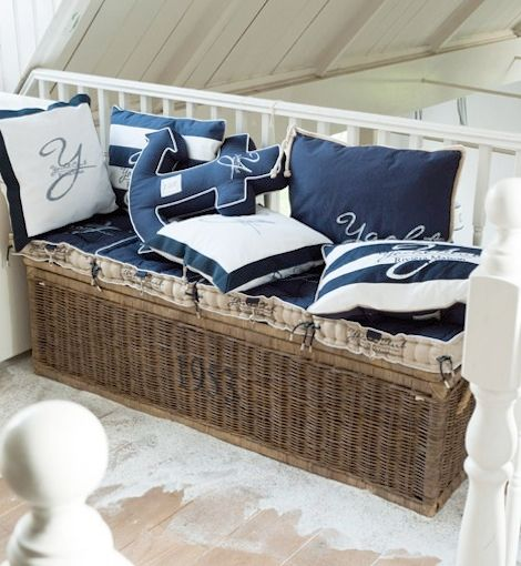 nautical by Coeny- Whimsy pillows for your outdoor nautical theme-