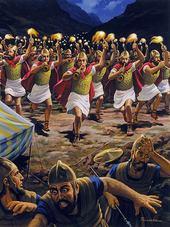 Gideon Defeats Midian (Judges 7:19-25) | Be the change ...