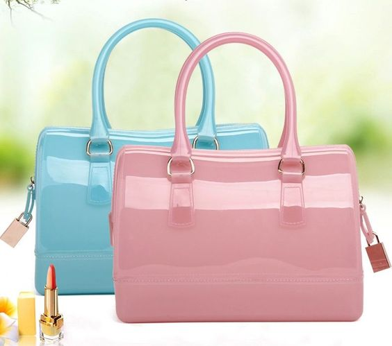 Women'S Pillow Jelly Stylish Sugar Crystal Beach Transparent Handbag Bags