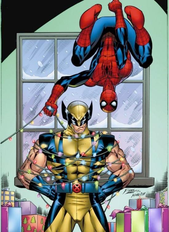 Merry Christmas from Spidey and Wolverine. | Christmastime Is Here ...