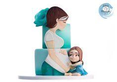 MY BABY SHOWER CAKE by Silvia Mancini Cake Art