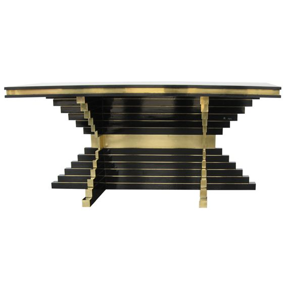 Rare alain delon for maison jansen console furniture for Alain metral maison