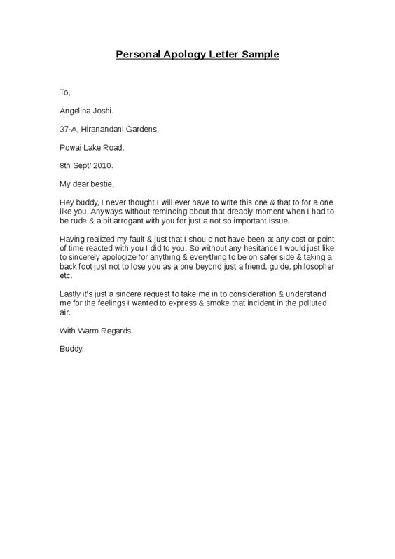 personal apology letter sample hashdoc business template formsword - apologize letter to client