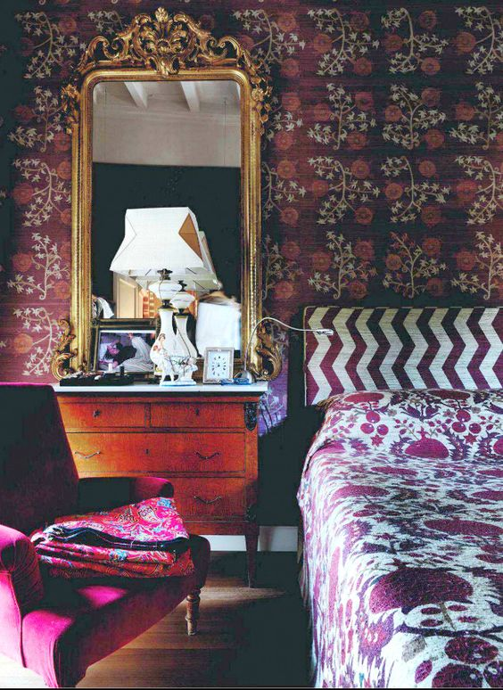 How To Decorate A Bedroom Room In The Bohemian Style From Home And Garden Uk Home Decorating