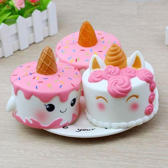 11cm Jumbo Squishy Cute Unicorn Cake Squishies Super Slow Rising ...