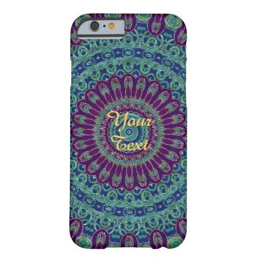 Purple, Blue and Green Mandala iPhone 6 Case