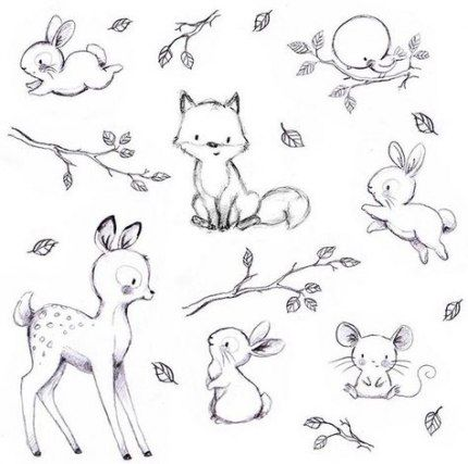 31 Ideas Baby Drawing Sketches Cute Baby Animal Drawings Cute Sketches Animal Sketches