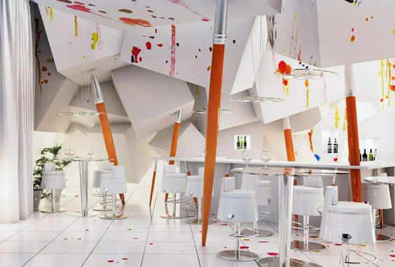 Stitched Surface Interiors | Interiors, Restaurant Interior Design And Room Ideas