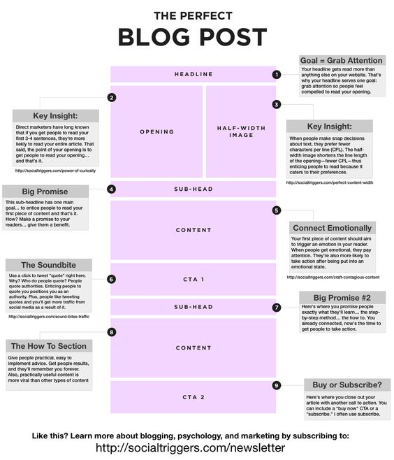 The Perfect Blog Post #Infographic #SocialFresh
