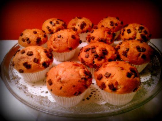 Muffins amb pepites de xocolata