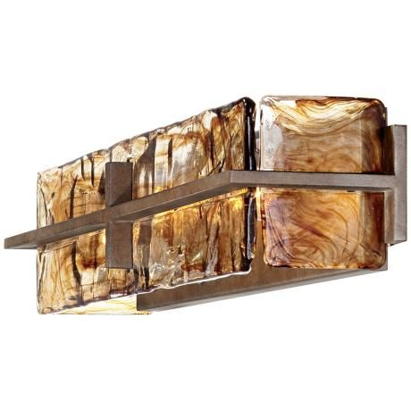 bronze gold art glass 23 34 wide bathroom light fixture art glass lighting fixtures