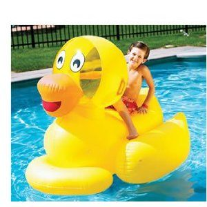 $26.99  http://amzn.to/IIoQsj     Giant Inflatable Ducky Swimming Pool Float Toy
