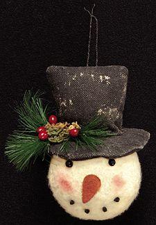 Snowman Head Ornament - Kruenpeeper Creek Country Gifts