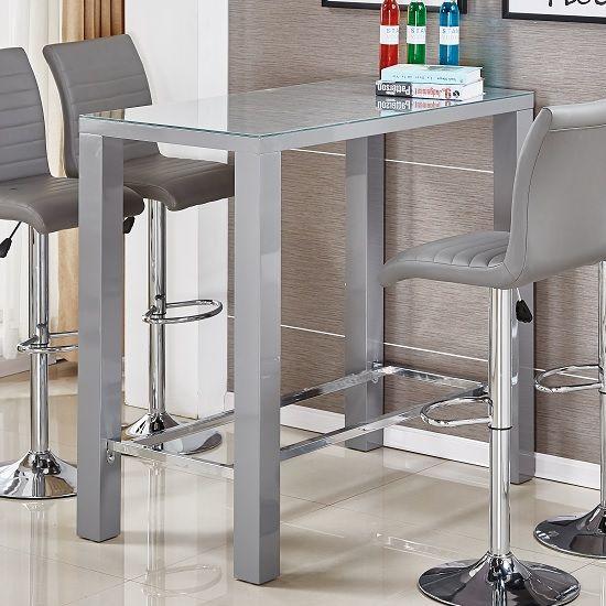 Jam Glass Bar Table Rectangular In Grey High Gloss Furniture In Fashion High Top Dining Table Bar Table High Bar Table