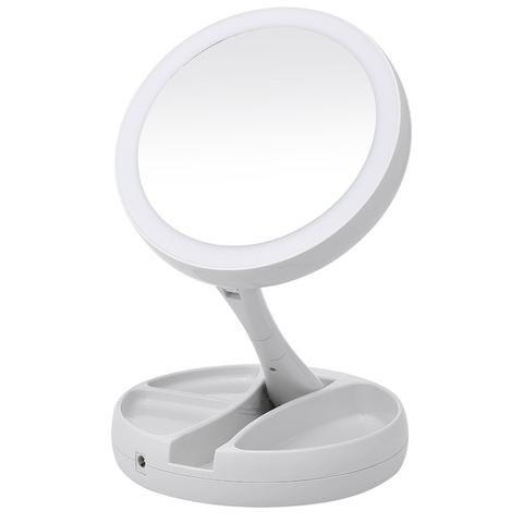 Portable Led Lighted Makeup Mirror Vanity Compact Make Up Pocket
