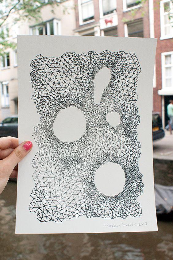 A4 / original Stift zeichnen / alles ist miteinander von marenbruin