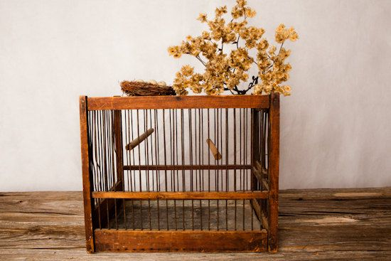 Vintage bird cage by TheRusticWillow on Etsy