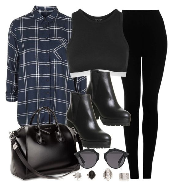 """""""Style #10573"""" by vany-alvarado ❤ liked on Polyvore featuring Topshop, Office, Givenchy and Christian Dior"""