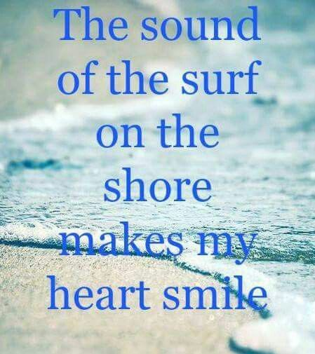 The sound of the surf on the shore makes my heart smile!   Beach ...