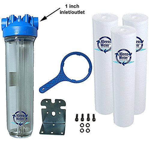 Whole House Water Filtration System Kleenwater Premier 4520 Water Filter Dirt Rust Sedi Whole House Water Filter Water Filters System Water Filtration System