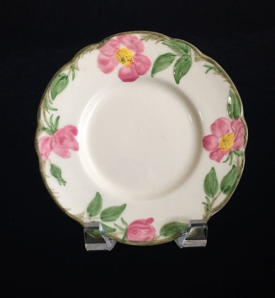 Vintage Franciscan Ware Desert Rose Bread Plate Made in California 1947 - 1949