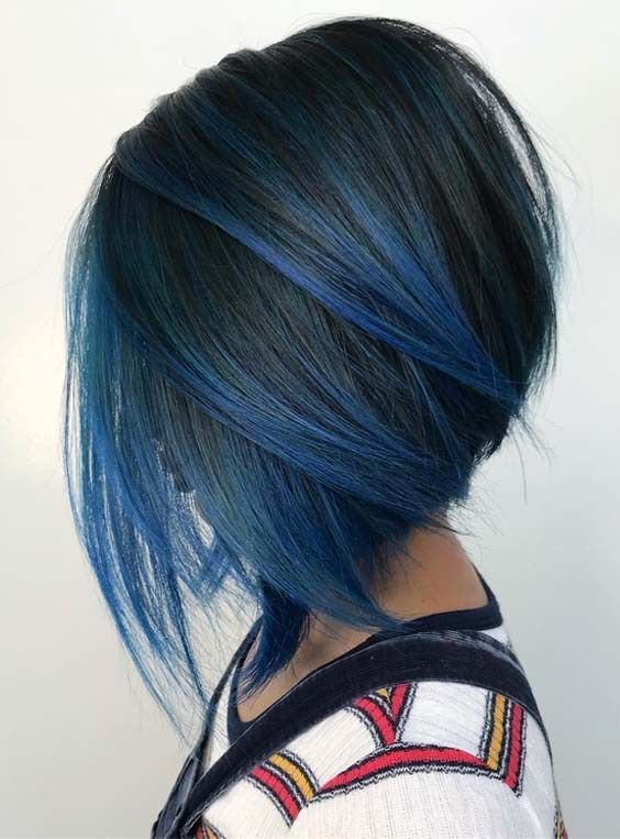 15 Stylish Blue Ombre Hair Colors With Short Haircuts With Images