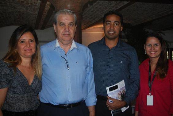 Marília Costa, do SulAmérica, Paulo Roberto e Fábio Costa, do RioBelezza, e Carina Amaral, do SulAmérica