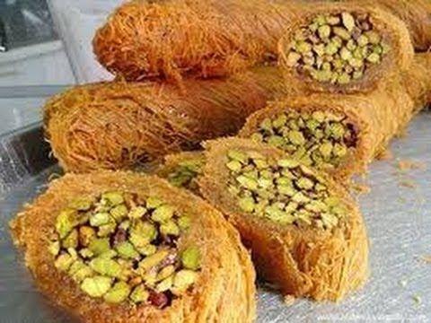 حلويات سهلة وسريعة التحضير طريقة عمل الكنافة المبرومة وصفات رمضانية معسلة Syrian Food Food Breakfast