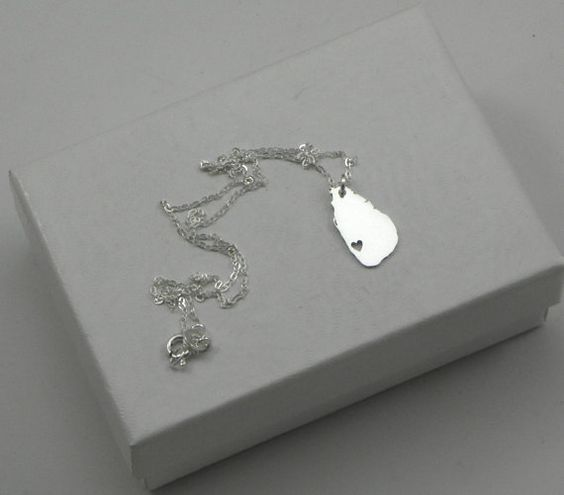 Sterling Silver Country Love Heart Necklace - Sri Lanka