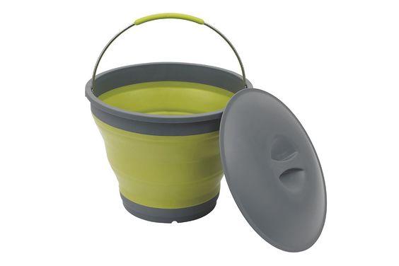 Der Collaps Eimer lässt sich nach Gebrauch vollständig zusammenfalten und eignet sich ideal für den Hausputz. Der Eimer besteht aus bruchsicherem Material, lässt sich leicht reinigen und in kürzester Zeit zusammenfalten.  • Zusatzinformation: - Kleines Packmaß: 5,5 x 31 cm (H x Durchm.) - Größe aufgeklappt: 24 x 31 cm (H x Durchm.) • Typ: Wasserkanister • Material: Silikon, Plastik  Maße  •...