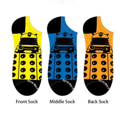 Doctor Who Daleks Ladies Socks 3 Pack
