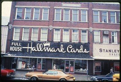 Back in the day you didn't have to go to CVS to get greeting cards because there was a Hallmark Cards store right on Court Street.