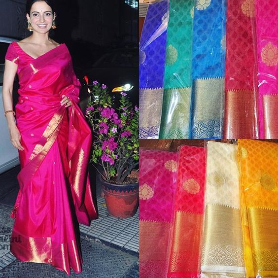 """Kangana shows us how to wear banarasi saree and looks like a barbie doll. Available in all colours purchase now To purchase mail us at houseof2@live.com  or whatsapp us on +919833411702 for further detail #sari #saree #sarees #sareeday #sareelove #sequin #silver #traditional #ThePhotoDiary #traditionalwear #india #indian #instagood #indianwear #indooutfits #lacenet #fashion #fashion #fashionblogger #print #houseof2 #indianbride #indianwedding #indianfashion #bride #indianfashionblogger…"