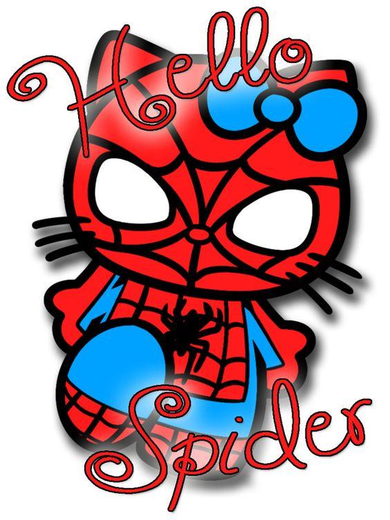 Brand New T-shirt Hello Kitty Spider Man Hello Spider