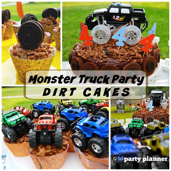 Monster Truck Party Dirt Cakes Monster Jam Party Ideas Pro Party Planner