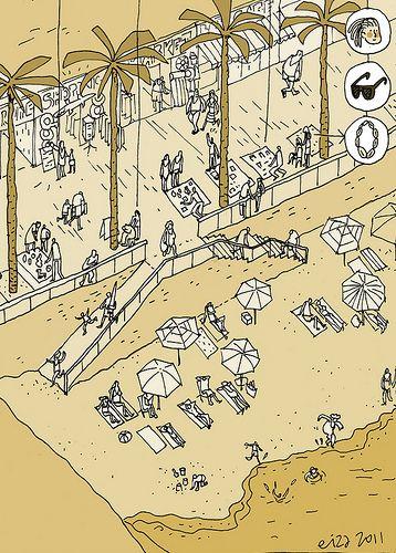 Jaime Eizaguirre - playa - arquicomics - croquis2