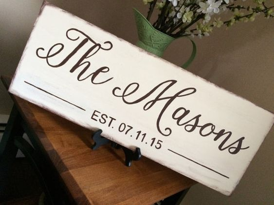 #craftshout0429 Family Established Sign Established Sign Family by loveofshabchic