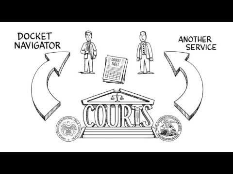 ▶ Docket Navigator This whiteboard #animation video shows how lawyers can use Docket Navigator to read every patent infringement docket sheet in a district court system and generate reports to answer queries.