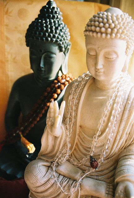 buddhas and mala beads