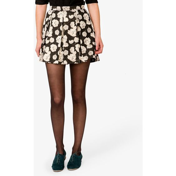FOREVER 21 Holiday Brocade Skirt ($25) ❤ liked on Polyvore